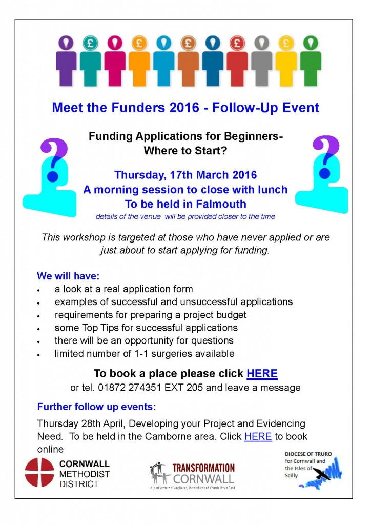 A4 Poster Meet the Funders - Funding Applications for Beginners Falmouth 170316