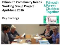Page 1 from Falmouth and Penryn Community Needs Working Group Presentation