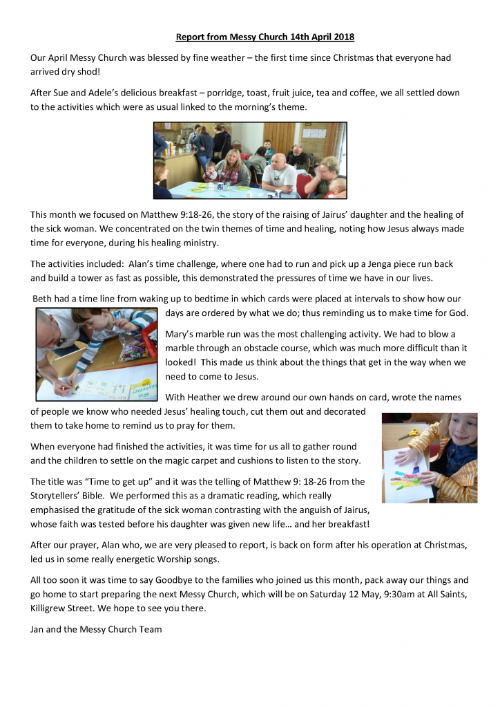 Messy Church – FALMOUTH ╫ PENRYN CHURCHES TOGETHER